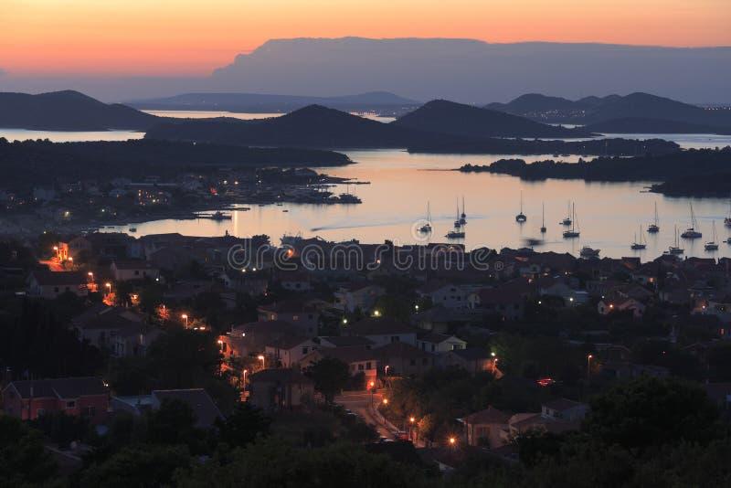 克罗地亚海岛murter 库存图片