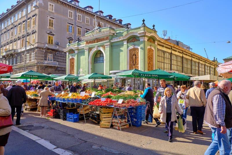 克罗地亚海岸农夫市场 库存照片