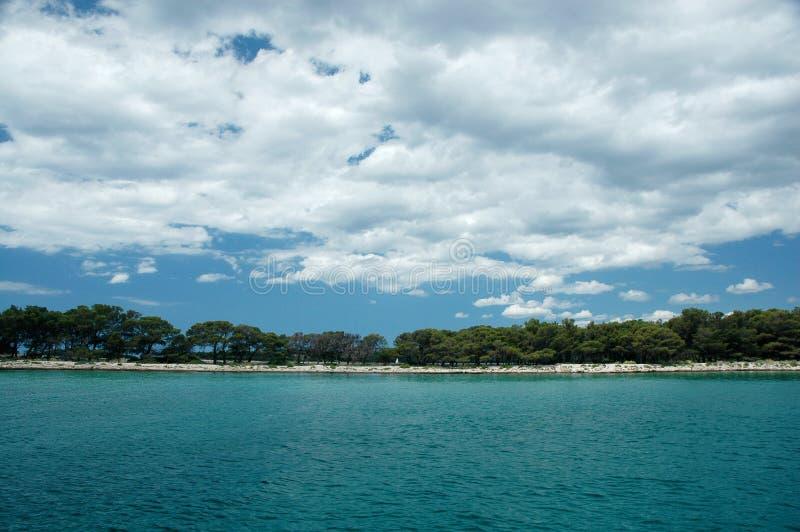 克罗地亚海边 免版税图库摄影