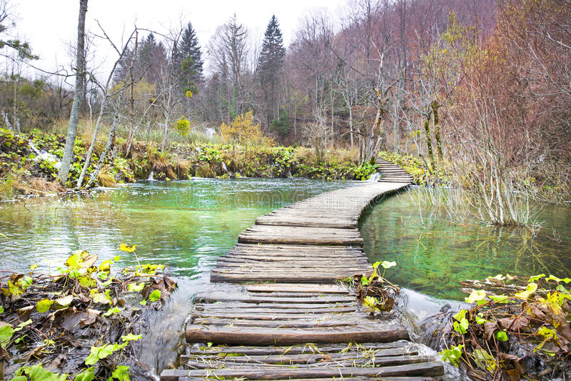 克罗地亚湖国家公园plitvice sostavtsy瀑布 免版税库存图片