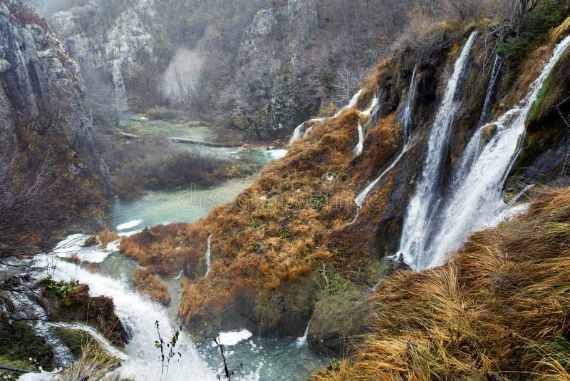 克罗地亚湖国家公园plitvice sostavtsy瀑布 免版税库存照片