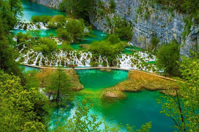 克罗地亚湖国家公园plitvice sostavtsy瀑布 库存图片