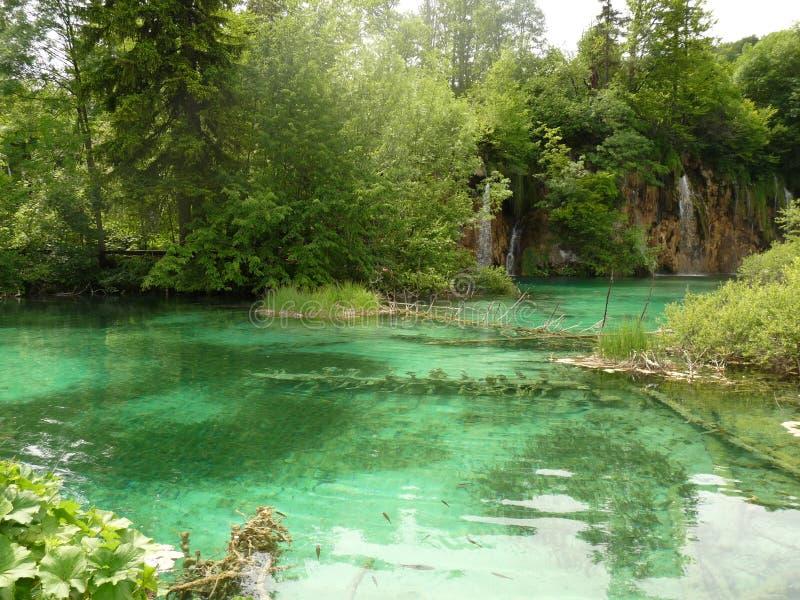 克罗地亚湖 免版税库存图片