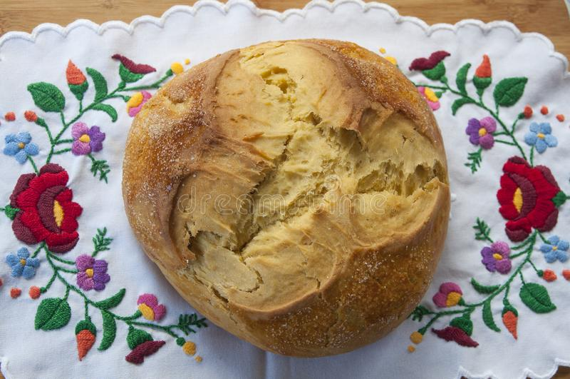 克罗地亚甜复活节面包 免版税库存照片