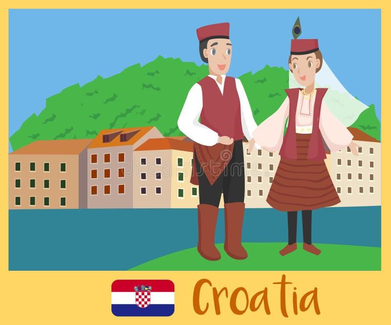 克罗地亚的人们 皇族释放例证