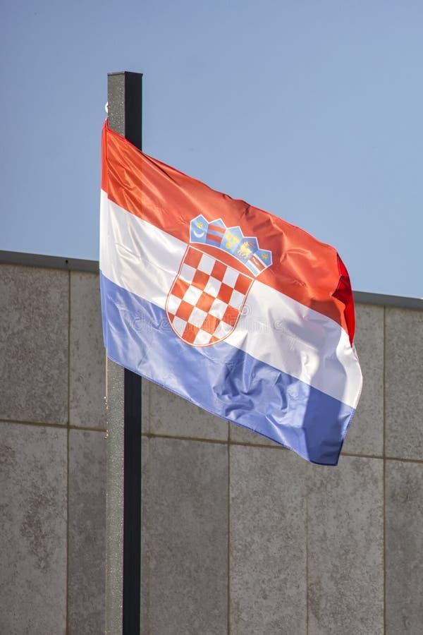 克罗地亚的国旗 图库摄影