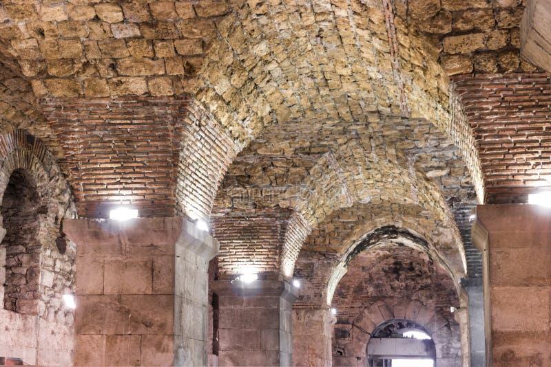 克罗地亚的视域 美好的城市分裂 diocletian宫殿 免版税库存图片