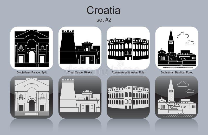 克罗地亚的象 向量例证