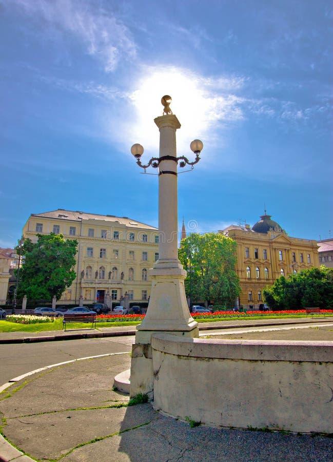 克罗地亚萨格勒布广场的首都 图库摄影