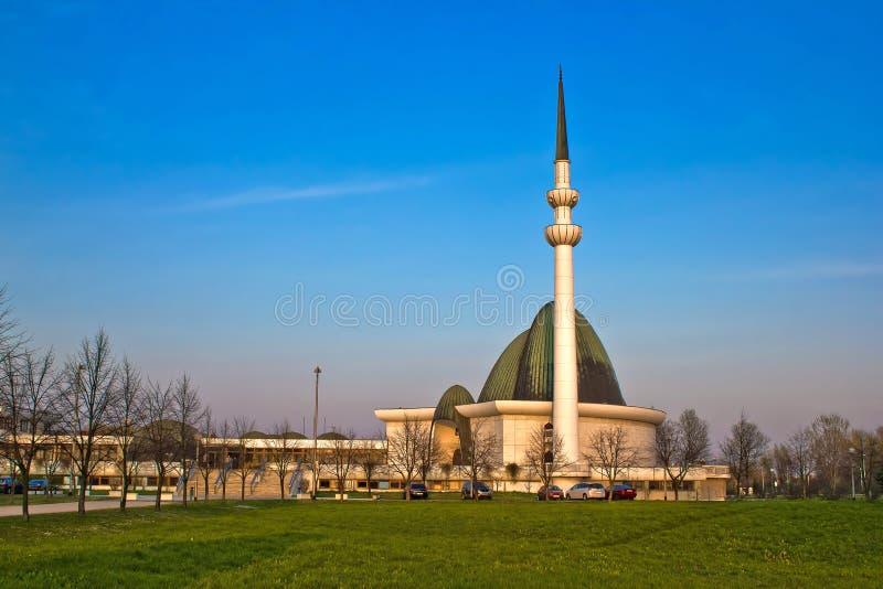 克罗地亚萨格勒布清真寺的首都 库存图片