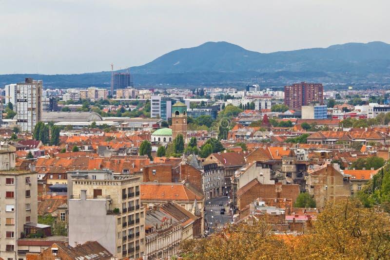 克罗地亚萨格勒布西部零件的首都 免版税图库摄影