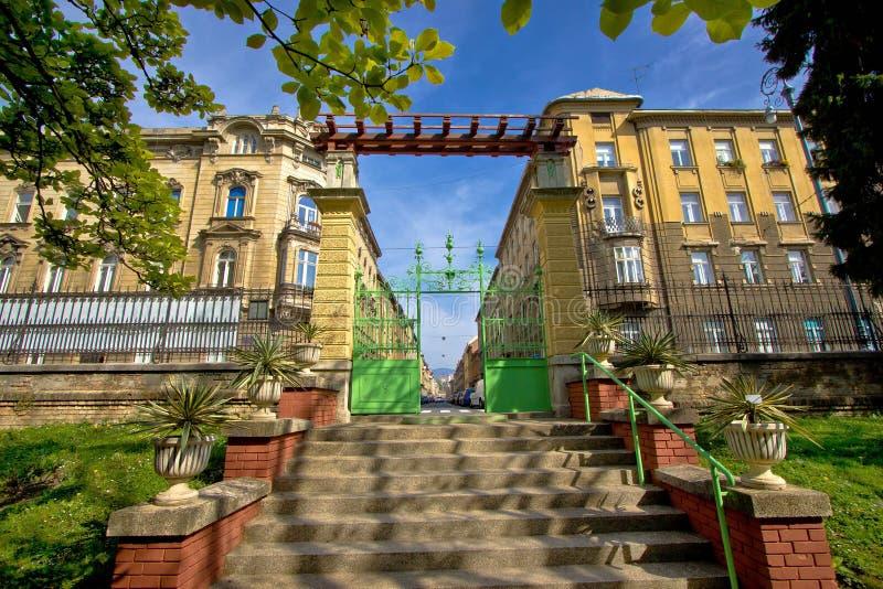 克罗地亚萨格勒布建筑学的首都 图库摄影
