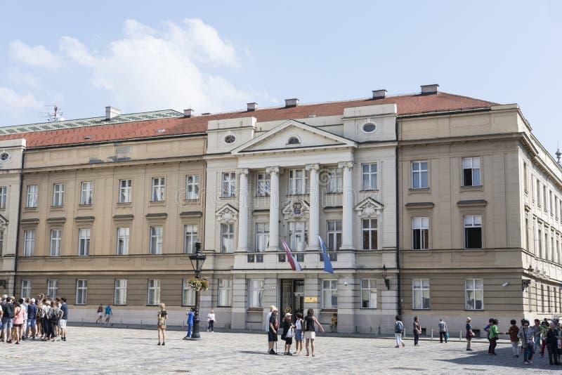 克罗地亚议会在萨格勒布 库存图片
