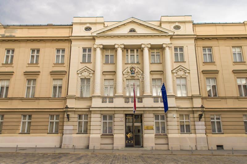 克罗地亚议会的大厦 库存图片