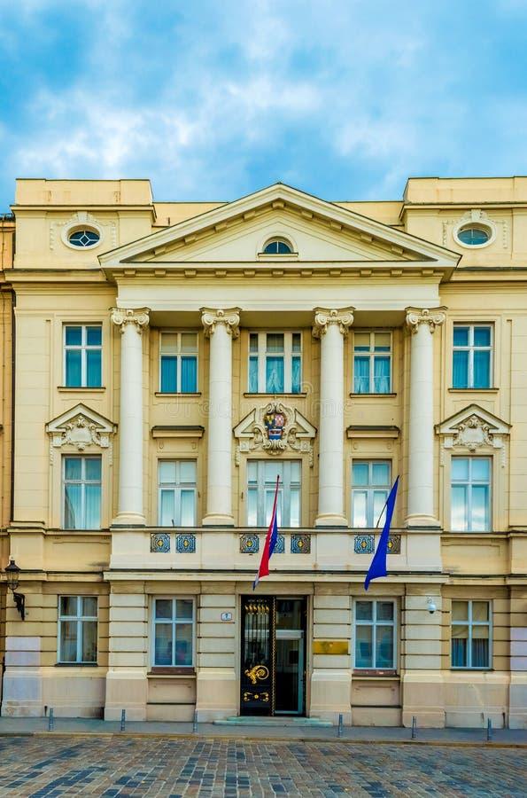 克罗地亚议会的大厦 免版税库存照片
