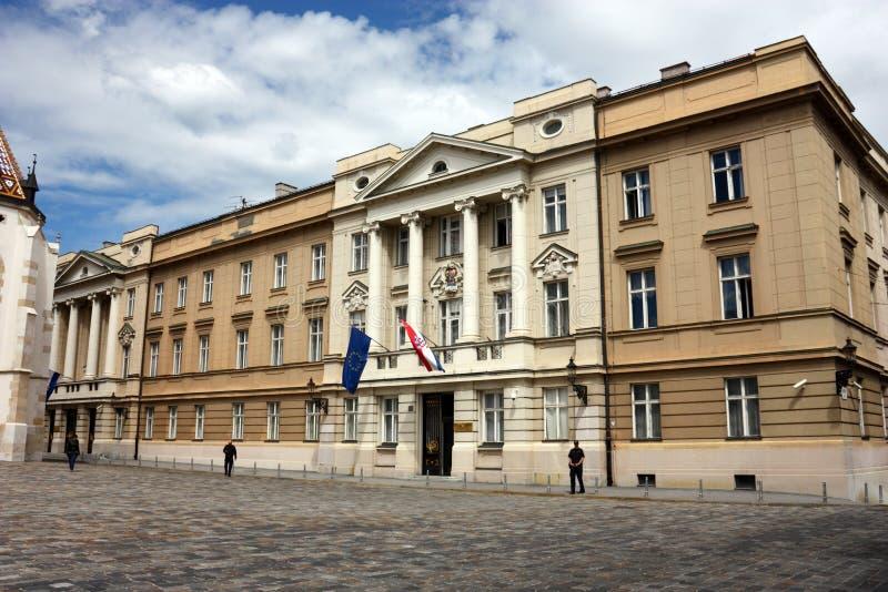 克罗地亚议会 免版税库存照片