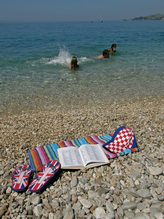 克罗地亚词典英语 库存图片