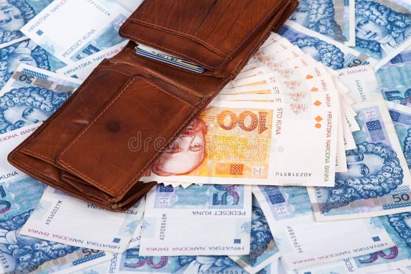克罗地亚金钱, Kuna 库存图片