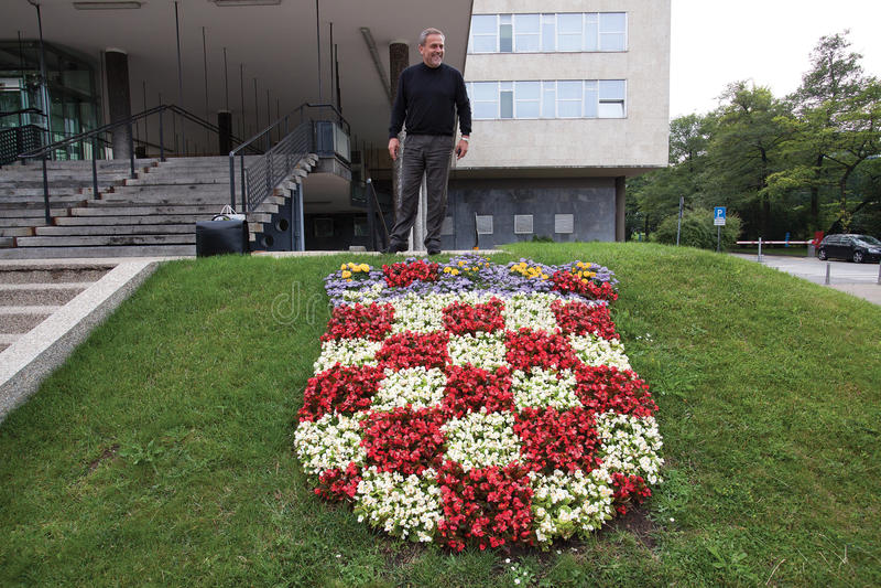克罗地亚首都萨格勒布的市长 图库摄影