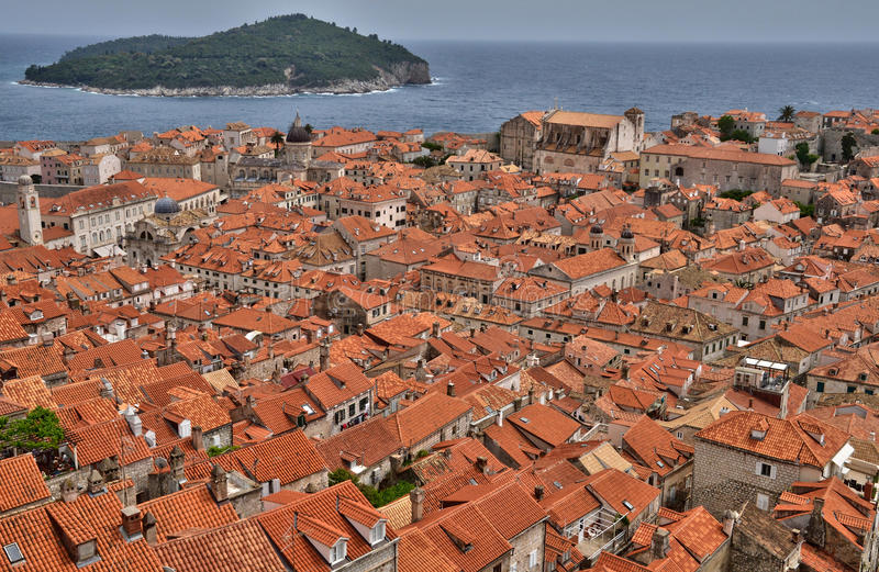 克罗地亚,老和美丽如画的市杜布罗夫尼克 库存照片