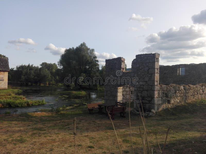 克罗地亚, Sinac,夏天 库存照片