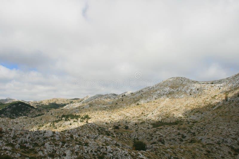 克罗地亚/山/石灰岩地区常见的地形秀丽  库存图片