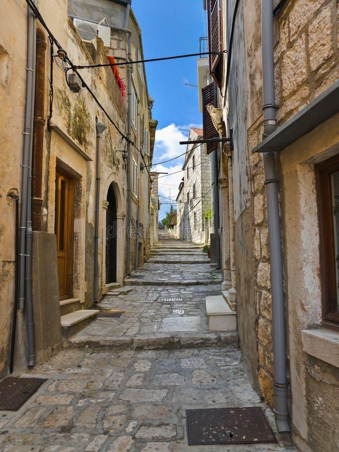 克罗地亚korcula街道 库存照片