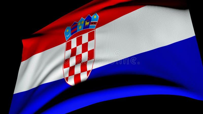 克罗埃西亚共和国的旗子 免版税库存图片