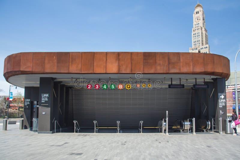 巴克莱中心地铁站 免版税库存图片