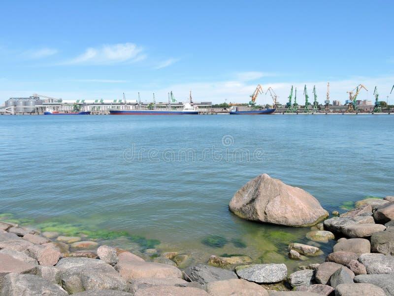 克莱佩达市港口,立陶宛 免版税库存照片