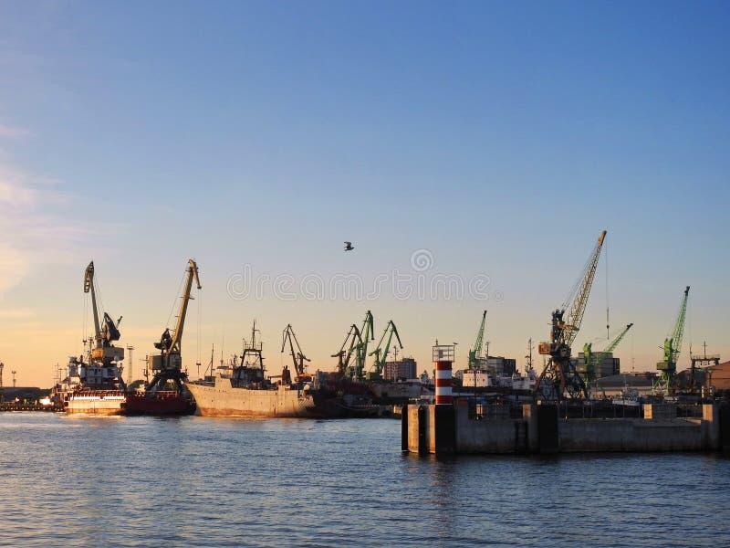 克莱佩达港口,立陶宛 库存照片