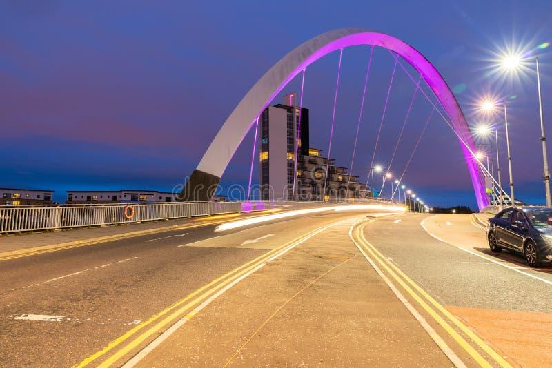 克莱德弧桥梁格拉斯哥 免版税库存照片