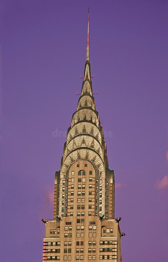 克莱斯勒大厦上面 免版税库存照片
