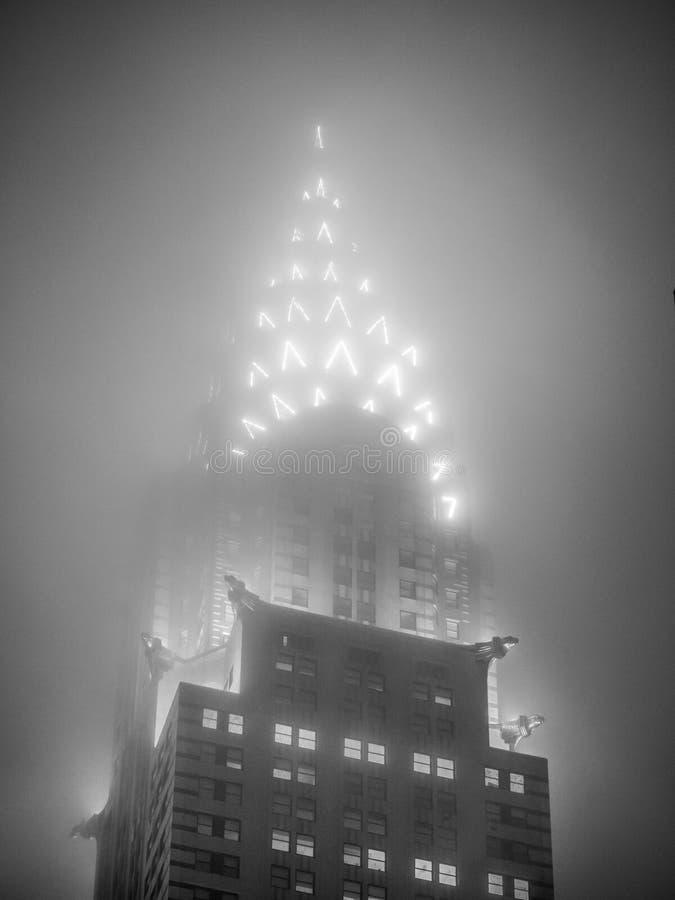 克莱斯勒大厦的光 免版税库存图片