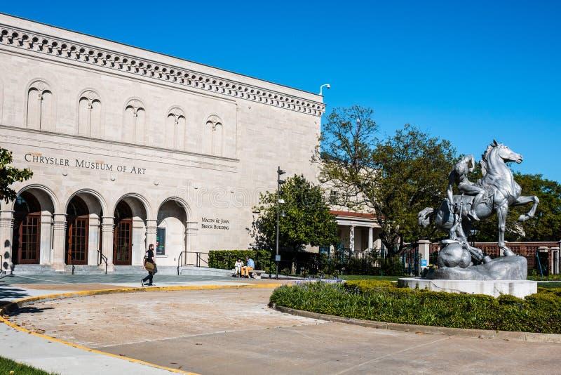 克莱斯勒艺术馆在诺福克, VA 免版税图库摄影