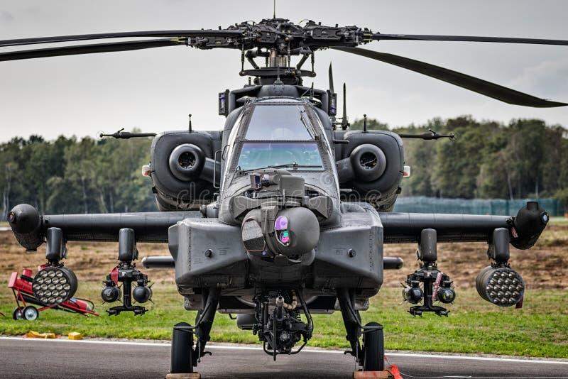 克莱茵BROGEL,比利时-军用亚帕基攻击用直升机9月8, 库存照片
