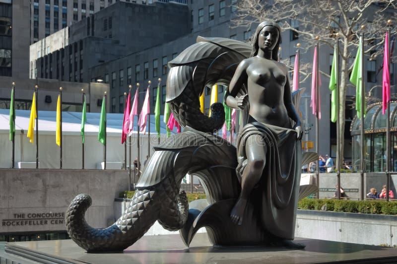 洛克菲勒中心在曼哈顿 库存图片