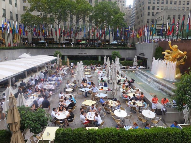 洛克菲勒中心在纽约 免版税库存图片