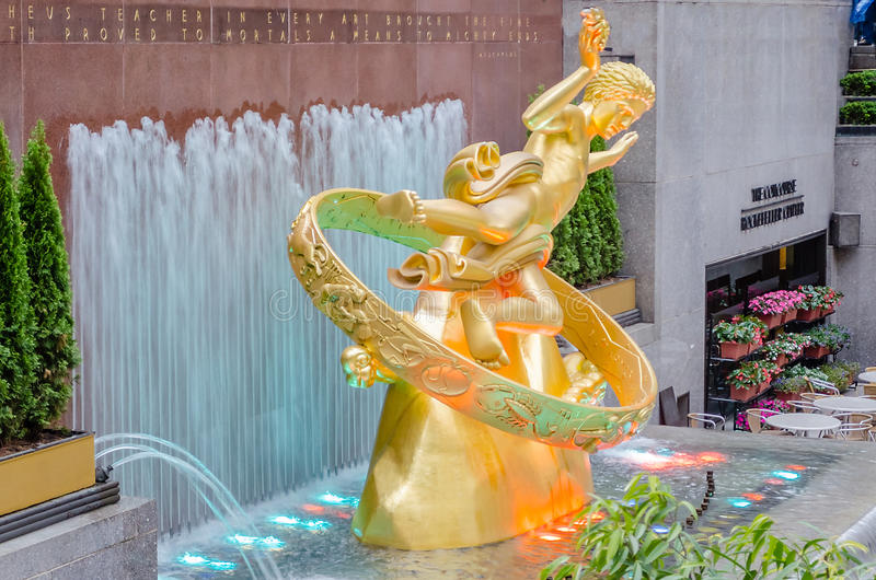 洛克菲勒中心,纽约 库存图片