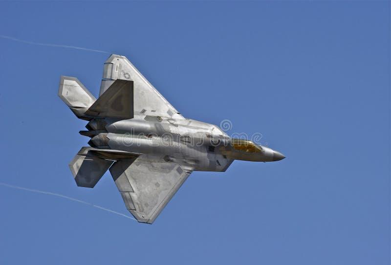 洛克西德・马丁F-22猛禽作战战机 库存照片
