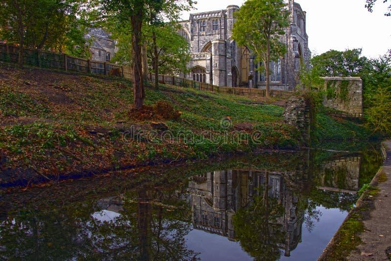 克赖斯特切奇小修道院克赖斯特切奇多西特 库存图片