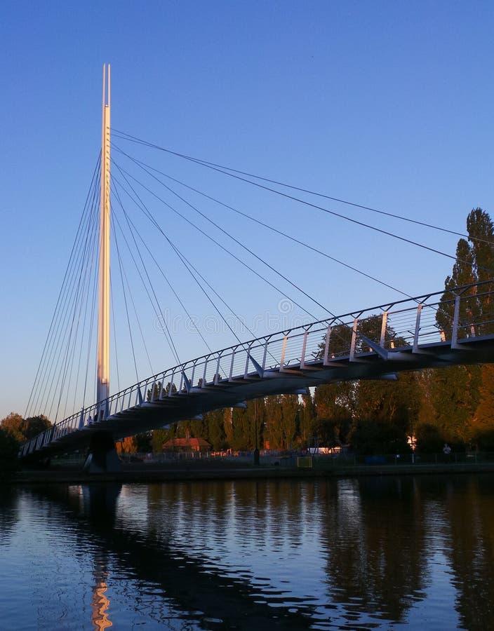 克赖斯特切奇桥梁 库存照片