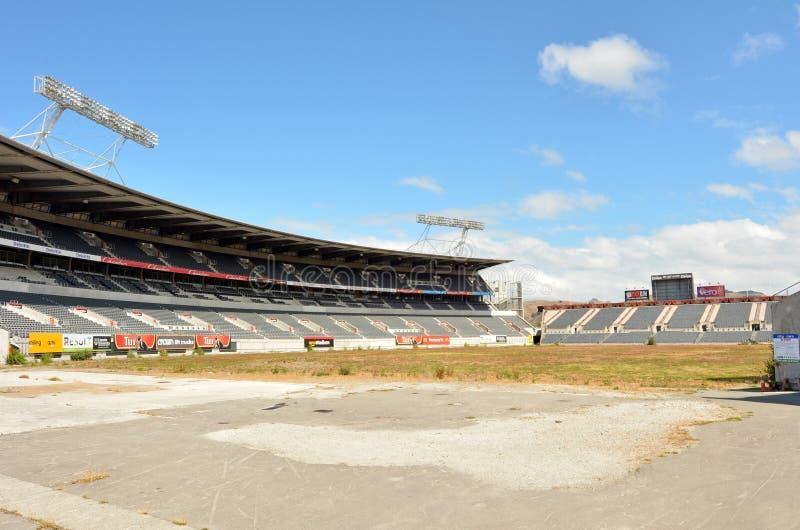 克赖斯特切奇橄榄球联盟球场-新西兰 免版税图库摄影