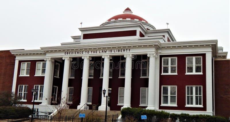 克里坦登县法院大楼马里阿肯色 库存图片
