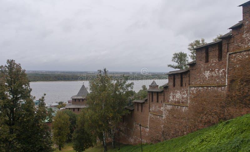 克里姆林宫在下诺夫哥罗德,俄罗斯联邦 免版税图库摄影