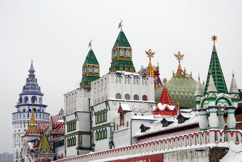 克里姆林宫在Izmailovo,莫斯科,俄国 免版税库存照片