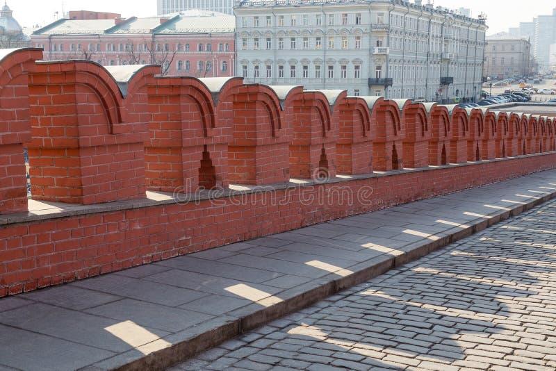 克里姆林宫墙壁,莫斯科,俄国 库存图片