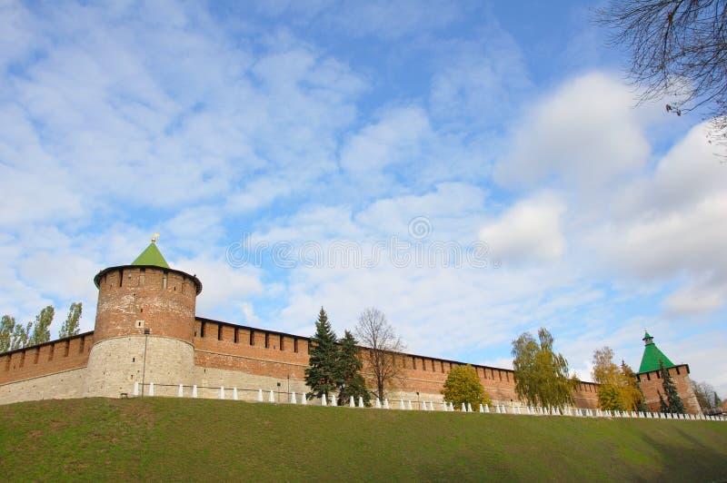 克里姆林宫墙壁 免版税库存照片