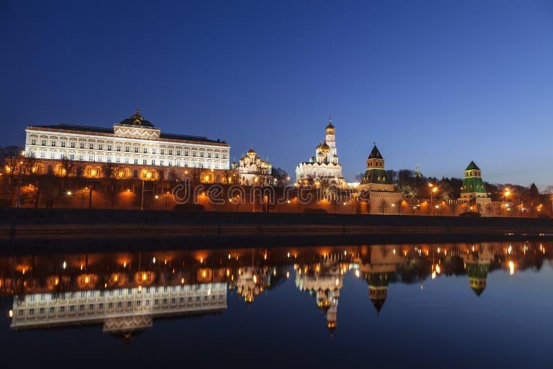 克里姆林宫的全景在清早,俄罗斯 免版税库存照片