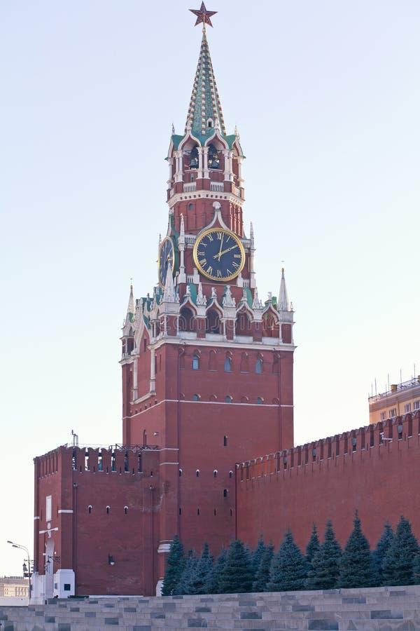 克里姆林宫的Spasskaya塔 免版税库存图片
